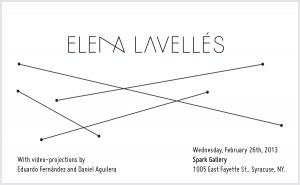 Elena Lavellés in Spark Gallery