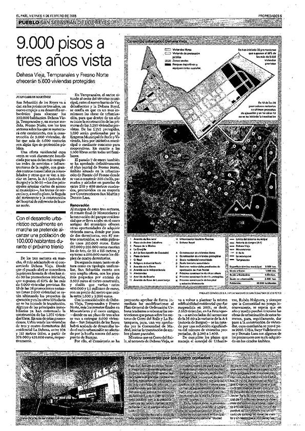 Vídeo frames Periódico El País Fechas: Viernes, 2 de Julio del 2004,Viernes, 4 de Febrero del 2005 y Viernes, 21 de Julio del 2006 Sección: Propiedades Escaner periódico original. Biblioteca Nacional.